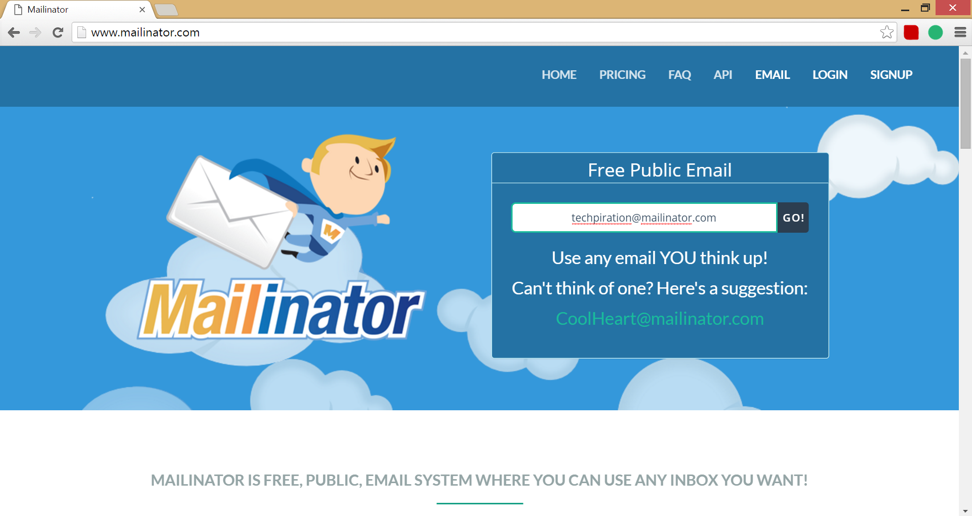 disposable email mailinator