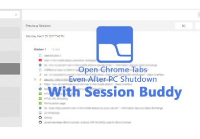 Open Chrome Tabs Even After PC Shutdown With Session Buddy
